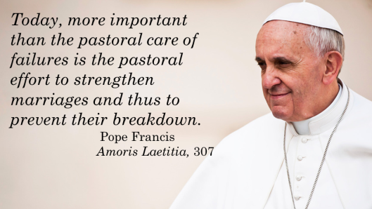Pope Francis_AL 307_Strengthen Families
