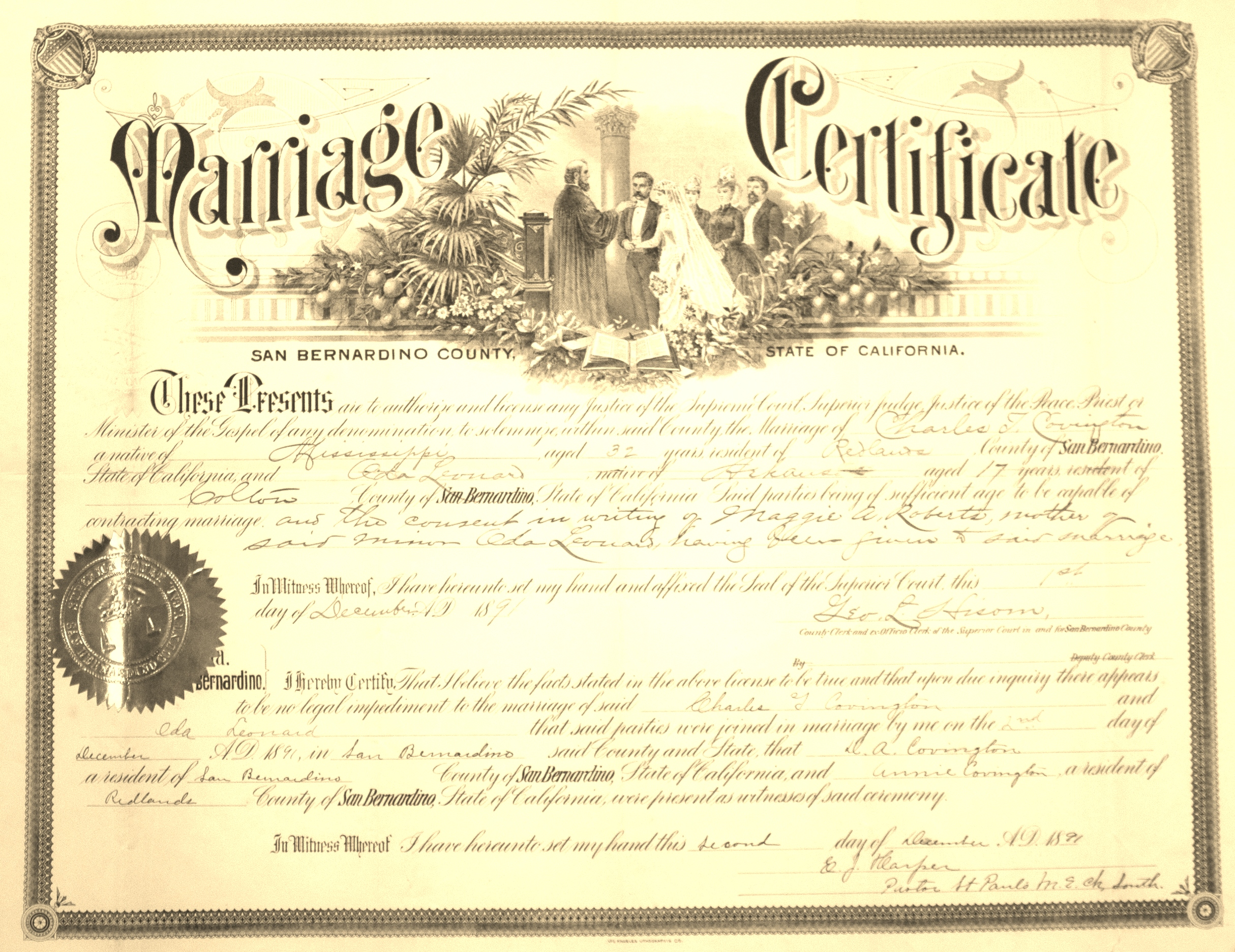 Copy Of Marriage License San Francisco Ca