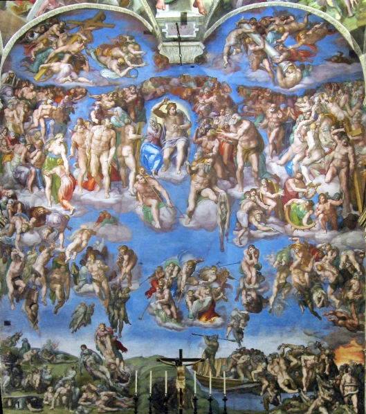 Last Judgment_Sistine Chapel_Michelangelo_c 1541