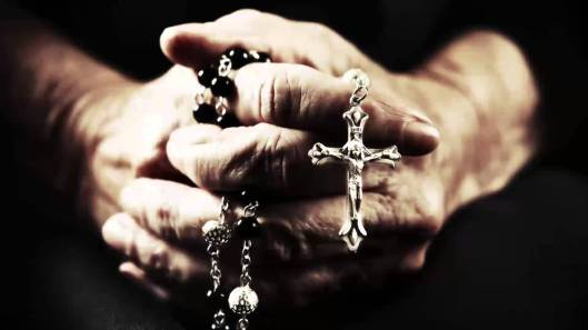 Praying hands rosary