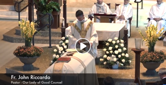 Fr Riccardo Funeral Mass for His Mom