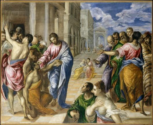 Jesus Healing Blind Man_El Greco