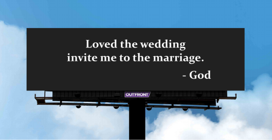 Invite me to the marriage_God