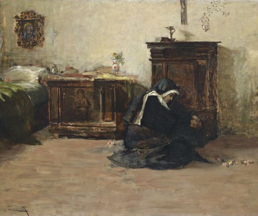 Young Nun in her Cell_Cesare Laurenti_19 cent
