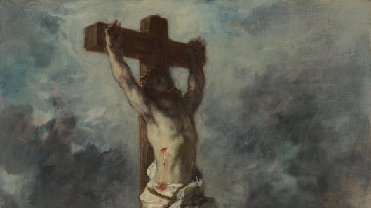 Christ on the Cross_Eugène Delacroix_c1835