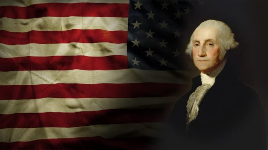 George Washington with Flag