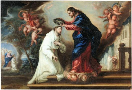 St Raymond Nonnatus Crowned by Christ_1673_Diego Gonzalez de la Vega