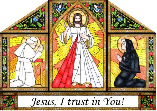 Divine Mercy JPII Faustina