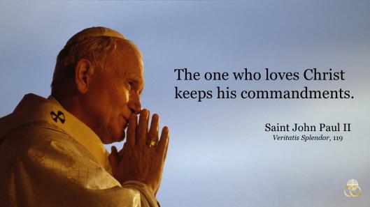 JPII Keep Commandments